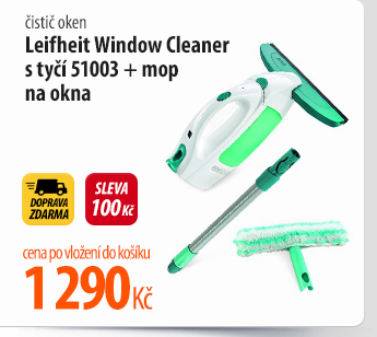 Čistič oken Leifheit Window Cleaner s tyčí 51003 + mop na okna