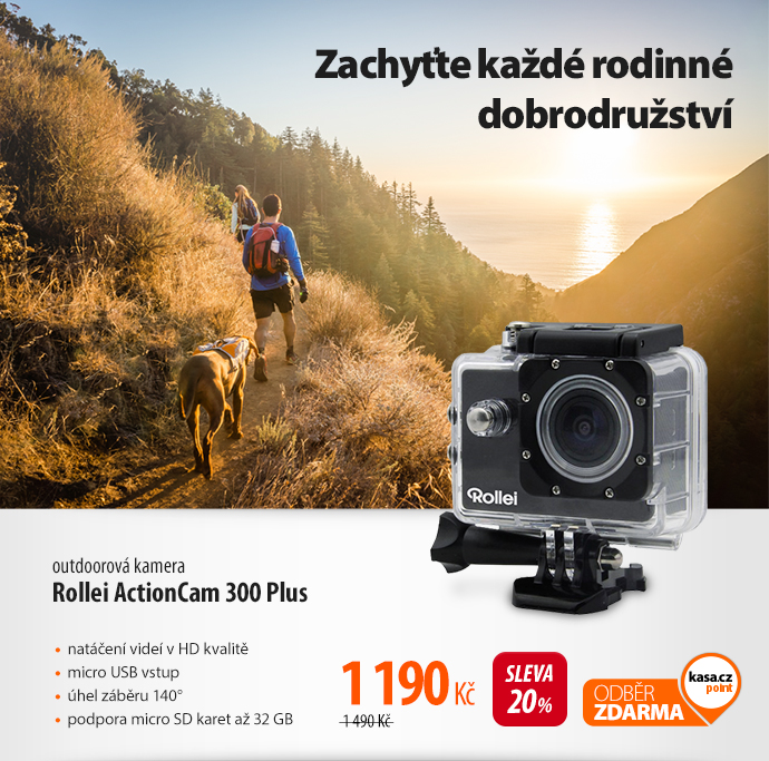Outdoorová kamera Rollei ActionCam 300 Plus