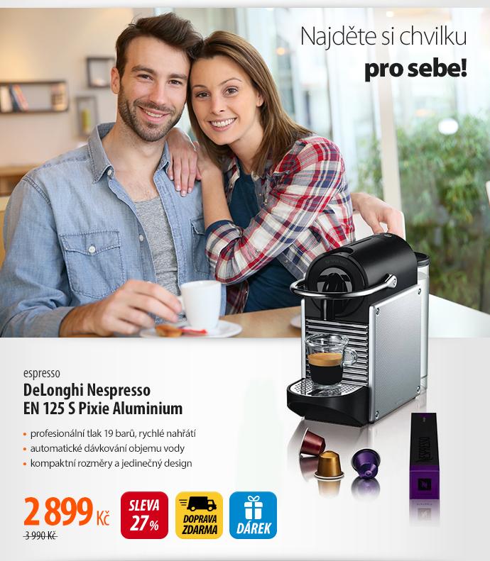 Espresso DeLonghi Nespresso EN 125 S Pixie Aluminium