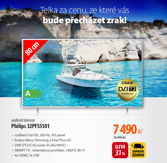 Android televize Philips 32PFS5501