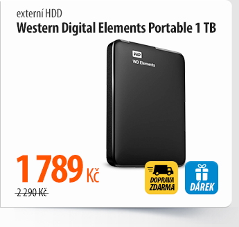 Externí HDD Western Digital Elements Portable 1 TB