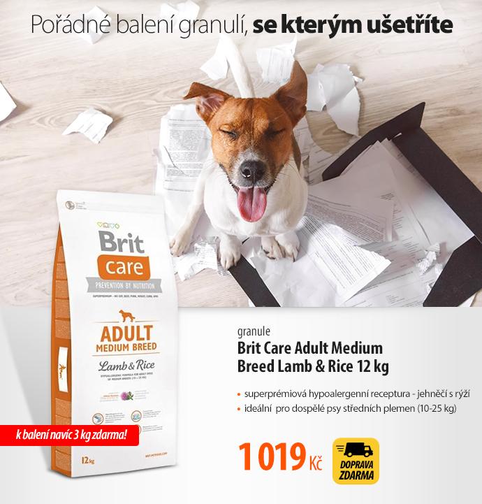 Granule Brit Care Adult Medium Breed Lamb & Rice 12 kg