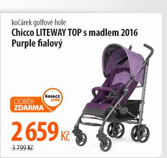 Kočárek golfové hole Chicco LITEWAY TOP s madlem 2016 Purple fialový