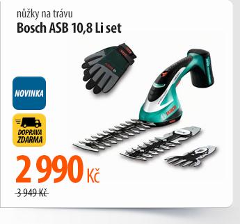 Nůžky na trávu Bosch ASB 10,8 Li set