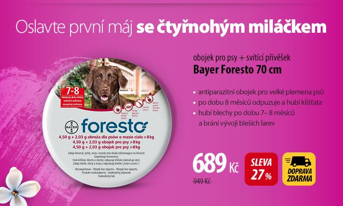 Obojek Bayer Foresto 70 cm pro psy + svítící přívěšek
