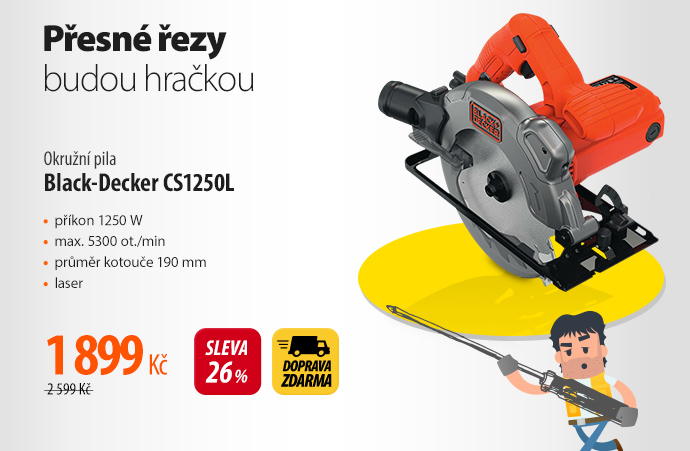 Okružní pila Black-Decker CS1250L