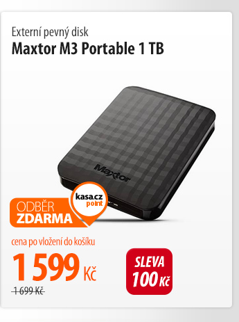 Externí pevný disk Maxtor M3 Portable 1TB