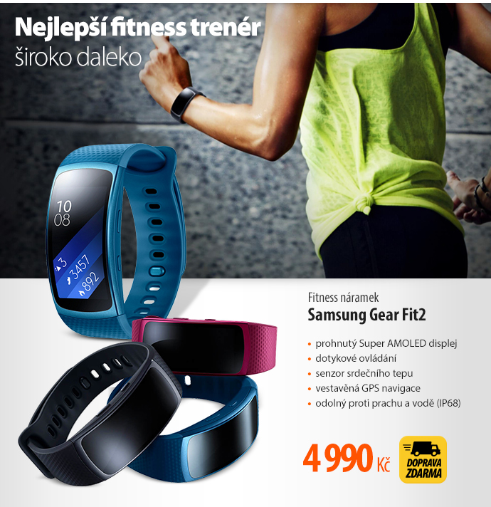 Fitness náramek Samsung Gear Fit2