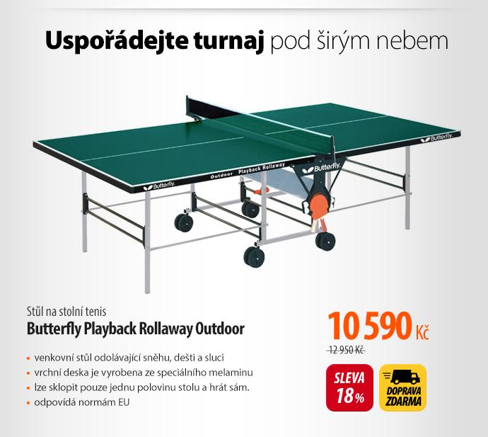 stůl na stolní tenis Butterfly Playback Rollaway Outdoor