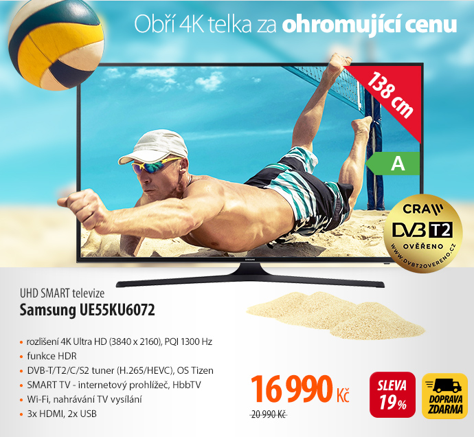 UHD SMART televize Samsung UE55KU6072