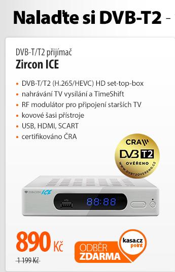 DVB-T/T2 přijímač Zircon ICE