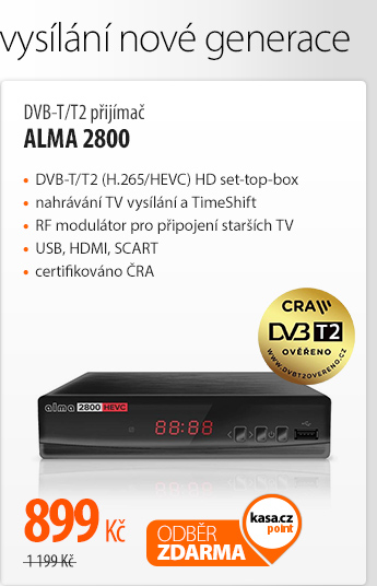 DVB-T/T2 přijímač ALMA 2800
