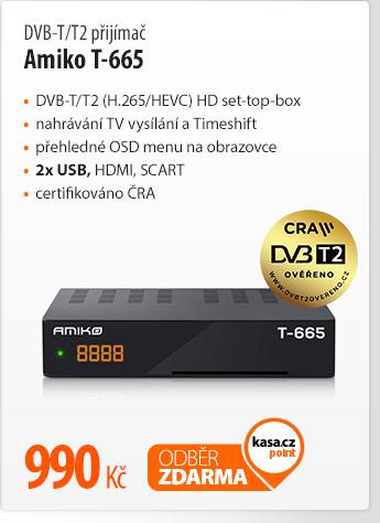DVB-T/T2 přijímač Amiko T-665