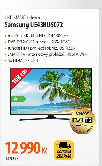 UHD SMART televize Samsung UE43KU6072