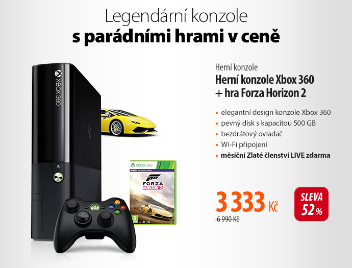 Herní konzole Xbox 360 + hra Forza Horizon 2