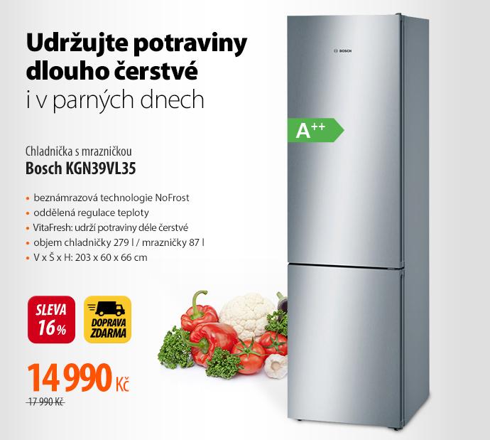Chladnička s mrazničkou Bosch KGN39VL35