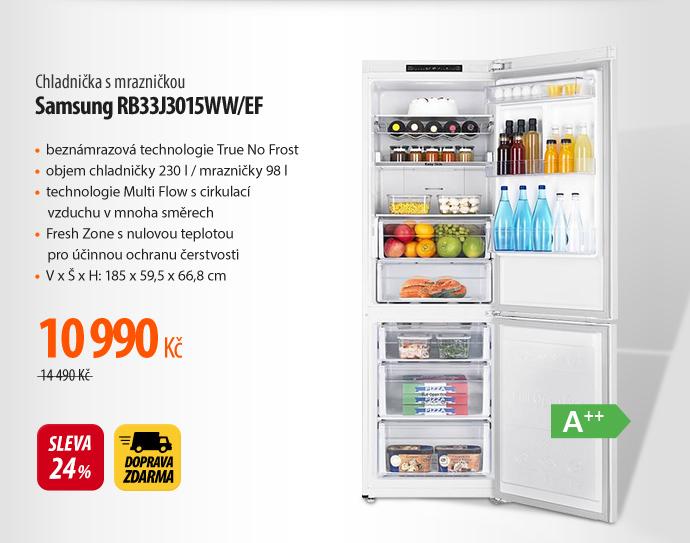 Chladnička s mrazničkou Samsung RB33J3015WW/EF