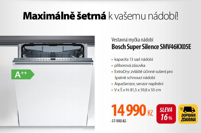 Vestavná myčka nádobí Bosch Super Silence SMV46KX05E