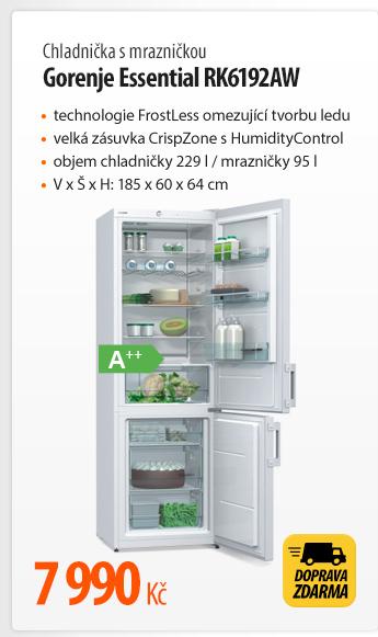 Chladnička s mrazničkou Gorenje Essential RK6192AW