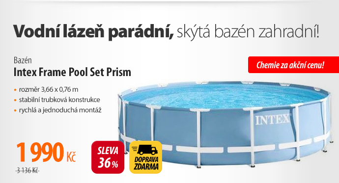 Bazén Intex Frame Pool Set Prism