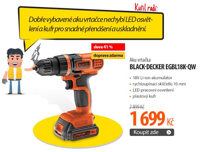 Aku vrtačka Black-Decker EGBL18K-QW