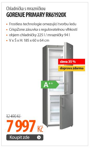 Chladnička s mrazničkou Gorenje Primary RK61920X