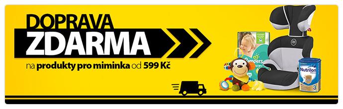 Doprava zdarma na produkty pro miminka od 599 Kč