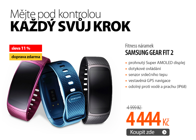Fitness náramek Samsung Gear Fit 2