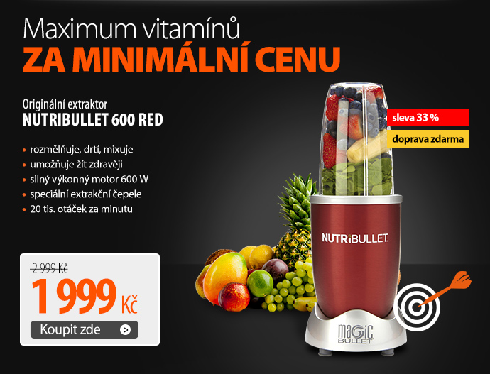 Originální extraktor NUTRIBULLET 600 Red