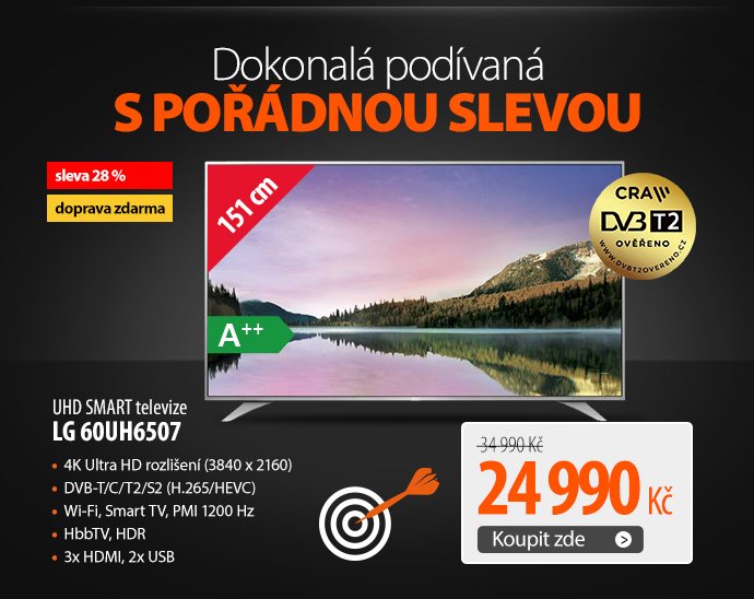 UHD SMART televize LG 60UH6507