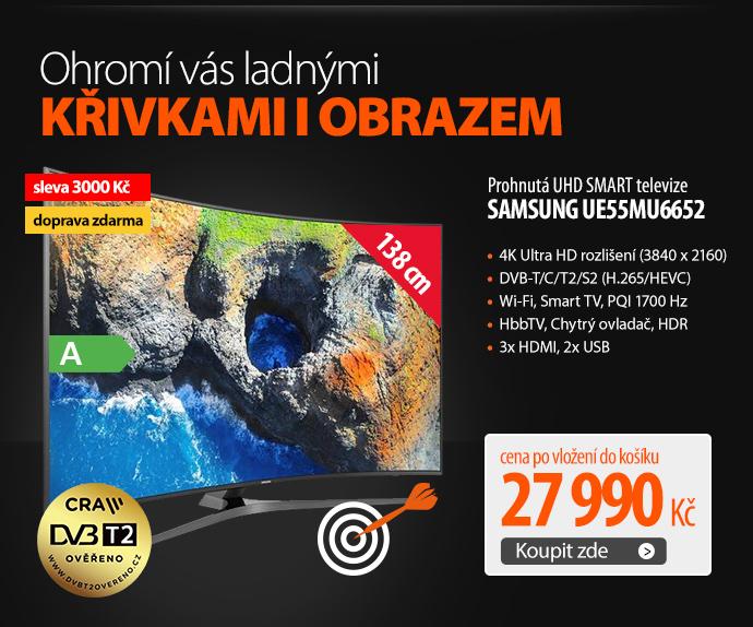 Prohnutá UHD SMART televize Samsung UE55MU6652