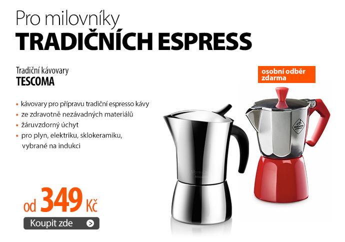Tradiční kávovary Tescoma od 349 Kč