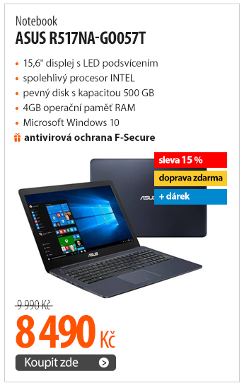 Notebook Asus R517NA-GO057T