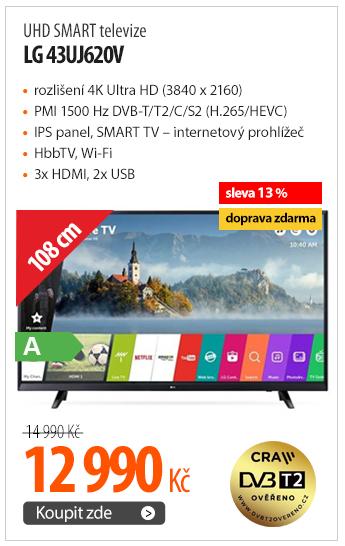 UHD SMART televize LG 43UJ620V
