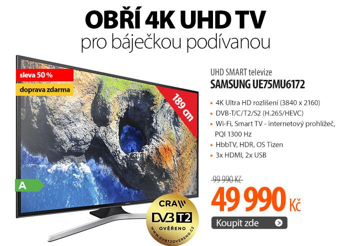 UHD SMART televize Samsung UE75MU6172