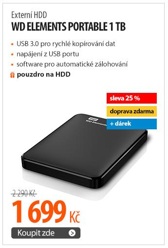 Externí HDD Western Digital Elements Portable 1TB