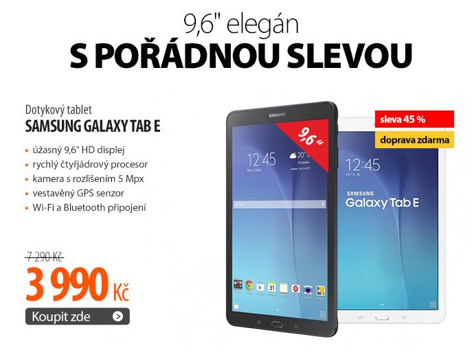 Dotykový tablet Samsung Galaxy Tab E