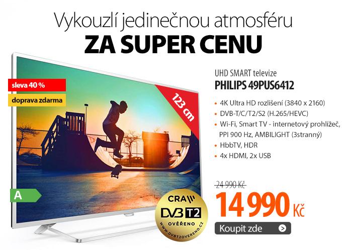 UHD SMART televize Philips 49PUS6412