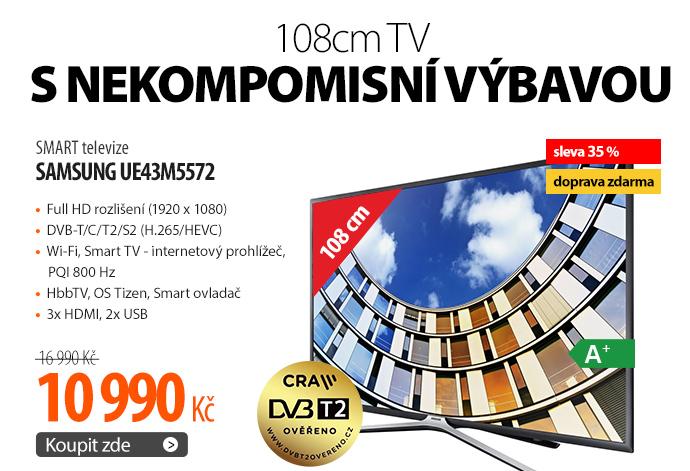 SMART televize Samsung UE43M5572