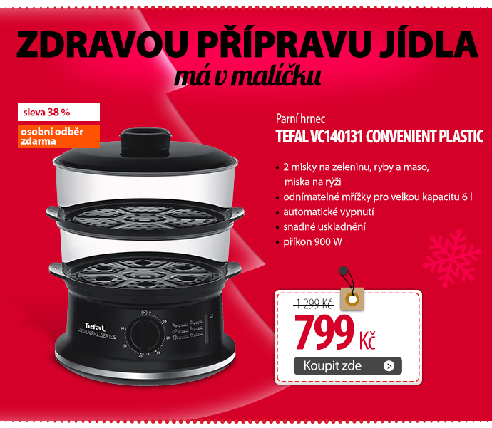 Parní hrnec Tefal VC140131 Convenient plastic