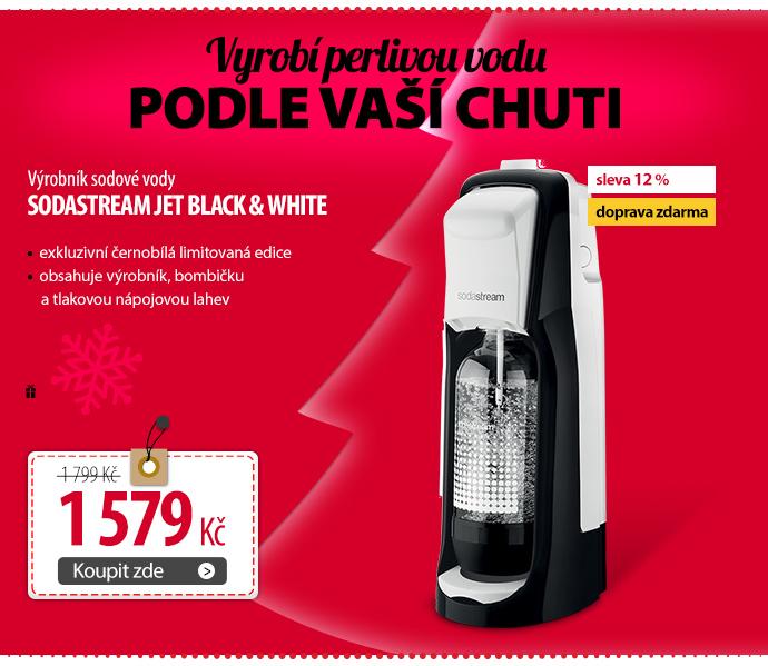 Výrobník sodové vody SodaStream JET Black & White
