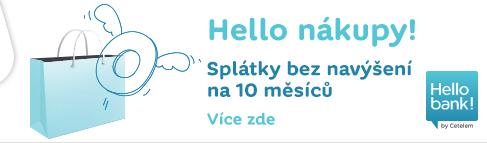 Hello nákupy! | Splátky bez navýšení na 10 měsíců