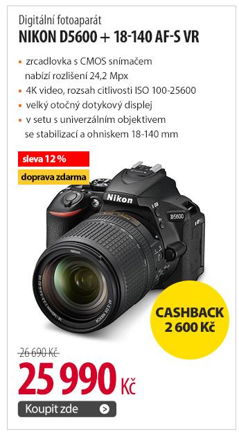 Fotoaparát Nikon D5600 + 18-140 AF-S VR
