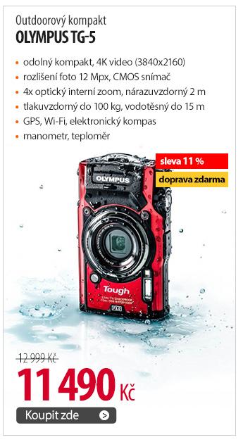 Outdoorový kompakt Olympus TG-5
