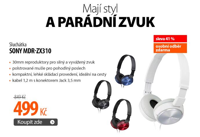 Sluchátka Sony MDR-ZX310