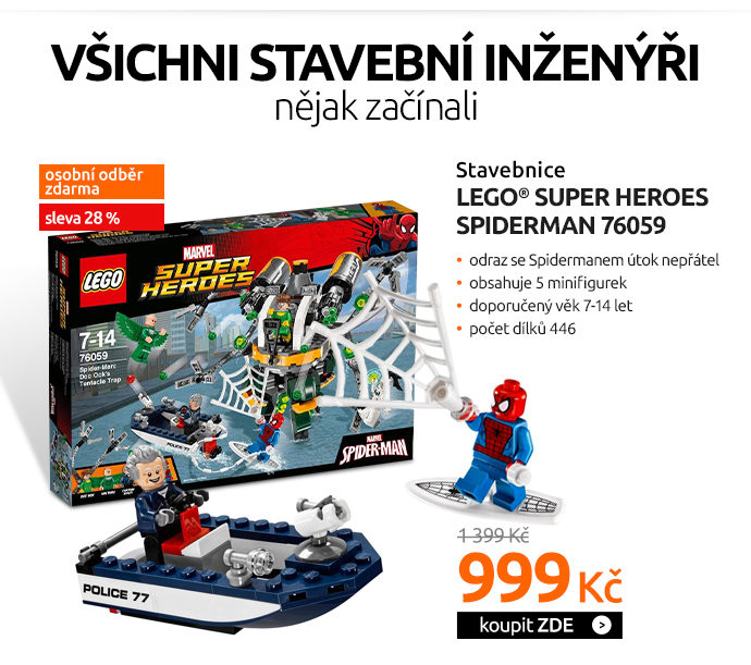 Stavebnice LEGO® SUPER HEROES SPIDERMAN 76059 Past z chapadel doktora Ocka