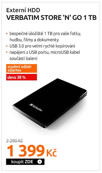 Externí HDD Verbatim Store 'n' Go 1TB