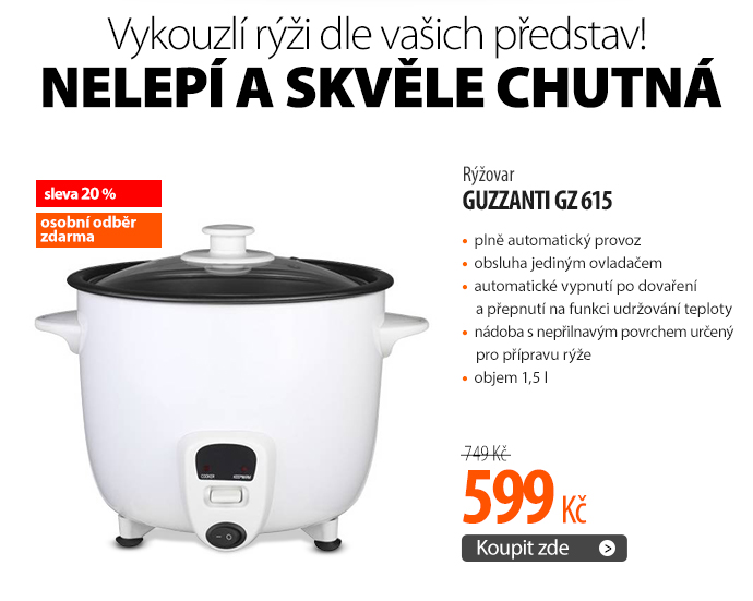 Rýžovar Guzzanti GZ 615