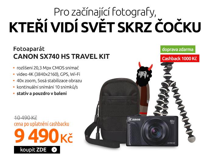 Fotoaparát Canon SX740 HS TRAVEL KIT