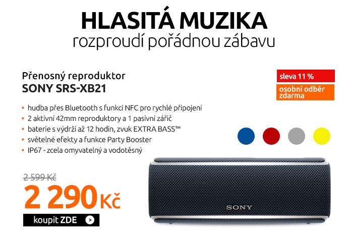 Přenosný reproduktor Sony SRS-XB21